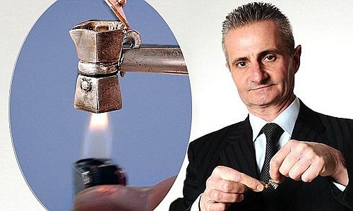 Pietro Marmo và chiếc máy cà phê tự chế